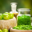 Spa essentials - green aromatherapy — Stock Photo