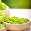 Green minerals for spa and aromatherapy — Stock Photo