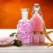 Stock Photo: Essential oils - Sptreatment