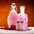 Stock Photo: Aromatherapy - pink minerals for Spa