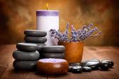 Spa treatment - lavender spa and aromatherapy — Stock Photo