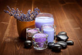 Lavender spa and wellness — Stock Photo