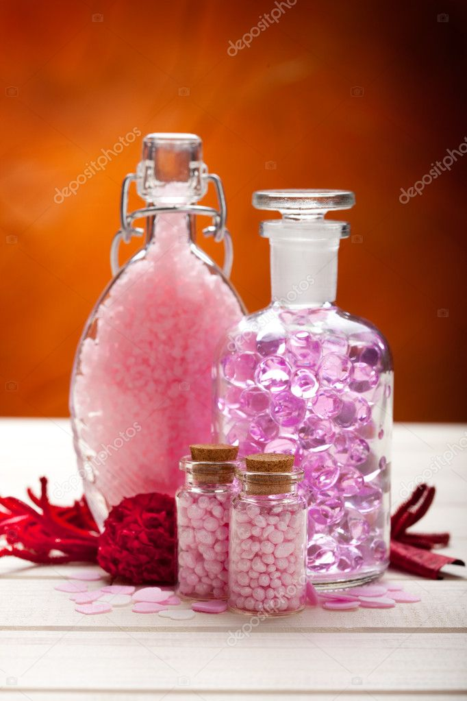 Aromatherapy - pink minerals for Spa  Stock Photo #6688120