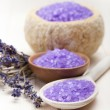 Stock Photo: Lavender - minerals for aromatherapy