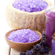 Stock Photo: Spand wellness minerals - lavender