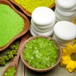 Green bath salt for Spa — Stock Photo #6696646