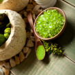 Stock Photo: Green minerals for aromatherapy
