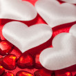 Stock Photo: White and red hearts