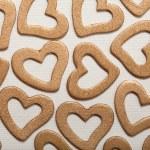 Valentine background - golden hearts — Stock Photo