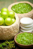 Bath Salt - Green minerals for Spa — Stock Photo