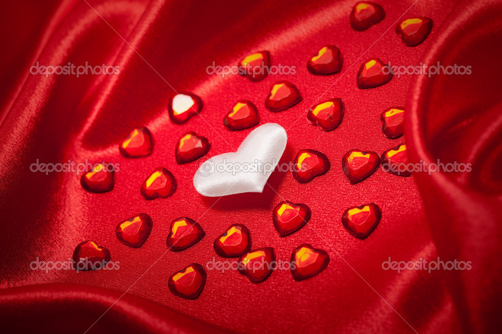 Hearts - Valentine background — Stock Photo #6698627