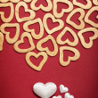 Happy Valentine - hearts — Stock Photo