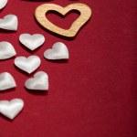 Valentine background - hearts — Stock Photo