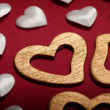 White and golden hearts — Stock Photo