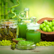Stock Photo: Sptreatment - aromatherapy minerals