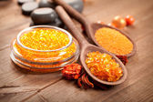 Spa - Orange bath salt — Stock Photo