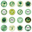 Royalty-Free Stock Vector Image: Eco sticker collection