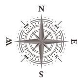 Vector wind rose compass — Stock Vector