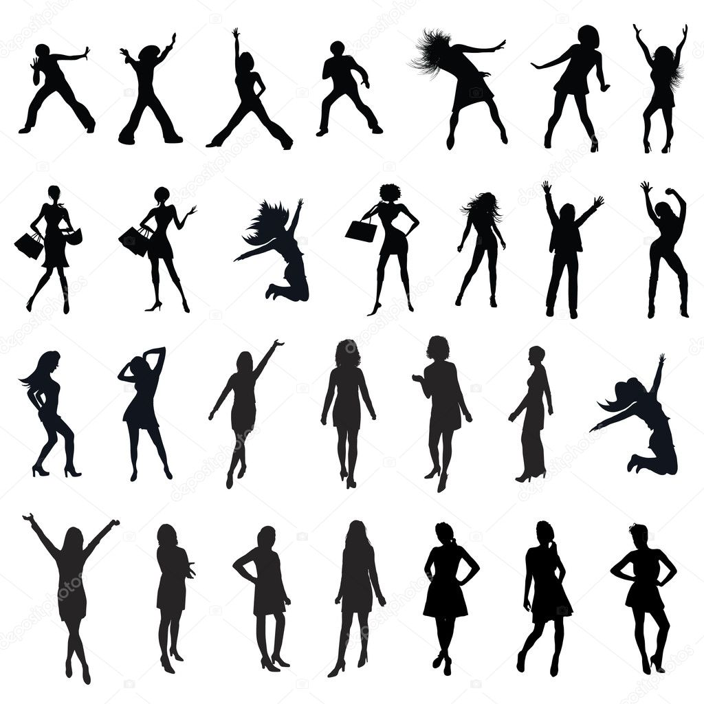 Download women silhouette stock illustration 5744952