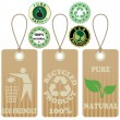 Stock Vector: Eco tags and stickers 3