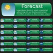 Forecast banners - Stock Vector