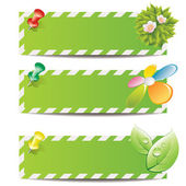 Eco banners — Stock Vector