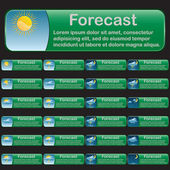 Forecast banners — Vector de stock
