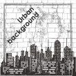 Urban background - Stok Vektör