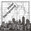 Urban background — Stockvectorbeeld
