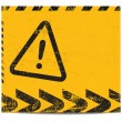Warning banner - Stock Vector