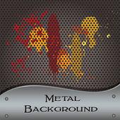 Metal background splats — Stock Vector