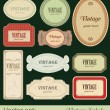Stock Vector: Vintage labels