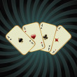Royalty-Free Stock Векторное изображение: Poker card illustration
