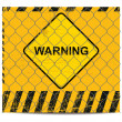 Warning and wire banner - Stock Vector