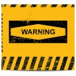Warning sign banner - Stock Vector