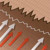 Financial chart — Stock Vector
