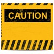 Stock Vector: Caution banner