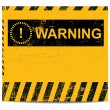 Stock Vector: Warning banner