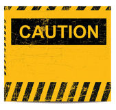 Caution banner — Stock Vector