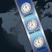 Time zone — Stock Vector