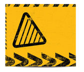 Warning banner — Stock Vector