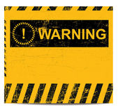 Warning banner — Stock Vector