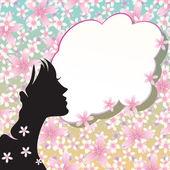 Flower girl — Vector de stock