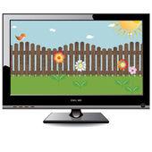 Plasma LCD TV — Stock Vector