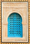 Decorated arabic style house window, Tunisia, Africa — Stock Photo