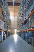 Industrial Warehouse - wide angle view — Stock Photo