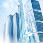 Sunny modern city — Stock Vector