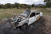 Motor Car Arson — Stock Photo