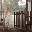 Bride in Rubber-boots — Stock Photo #5725665