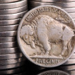 Stock Photo: 1936 IndiHead Buffalo Nickel